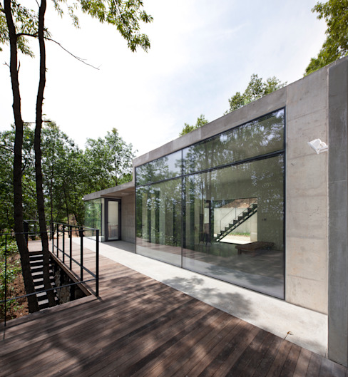 Atelier Namu Saenggak 모던스타일 주택 by around architects 모던