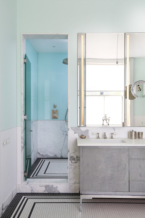 Notting Hill home Salle de bain minimaliste par Alex Maguire Photography Minimaliste