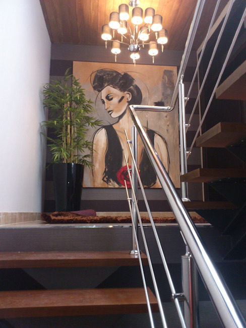 Pasillos, vestíbulos y escaleras  de estilo  por BONSAI S.L