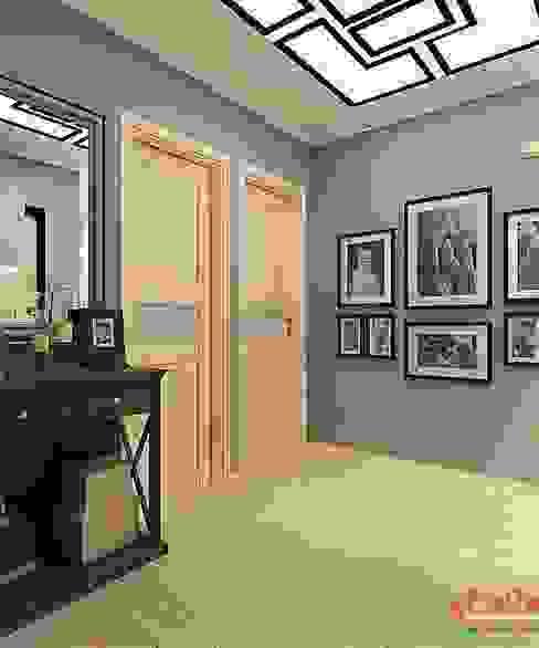 Дизайн проект 2к.кв. в смешанном Американском стиле Гостиная в классическом стиле от MoRo Классический