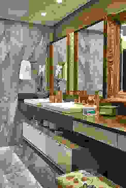 Bancada - Banho Casal Banheiros modernos por Studio Alessandra Lobo Moderno