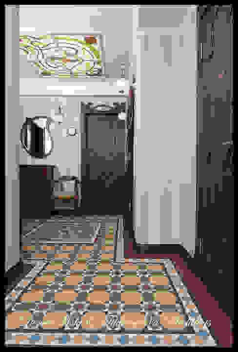 Couloir, entrée, escaliers modernes par D&T Architects Moderne