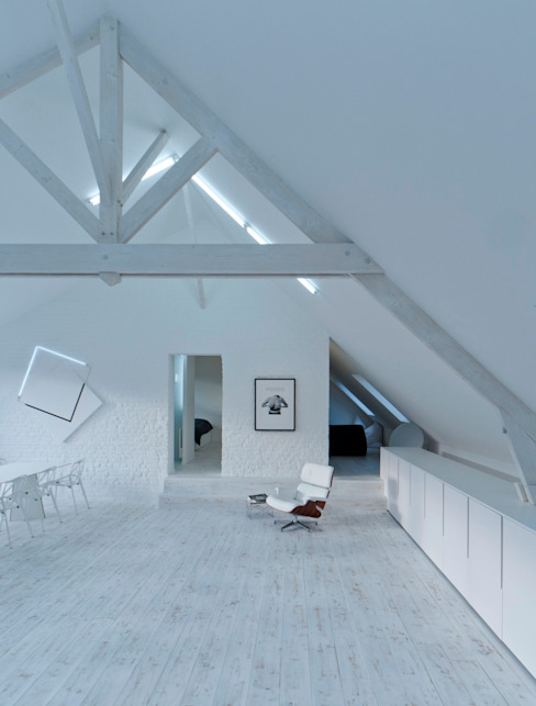 the white loft Salon industriel par mayelle architecture intérieur design Industriel