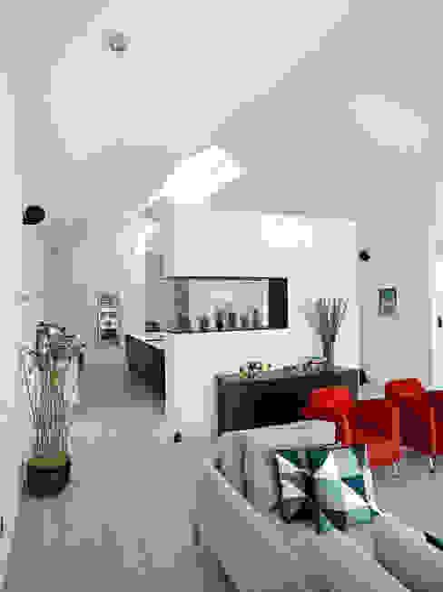 Villa G Scandinavian style living room by C.F. Møller Architects Scandinavian Wood Wood effect