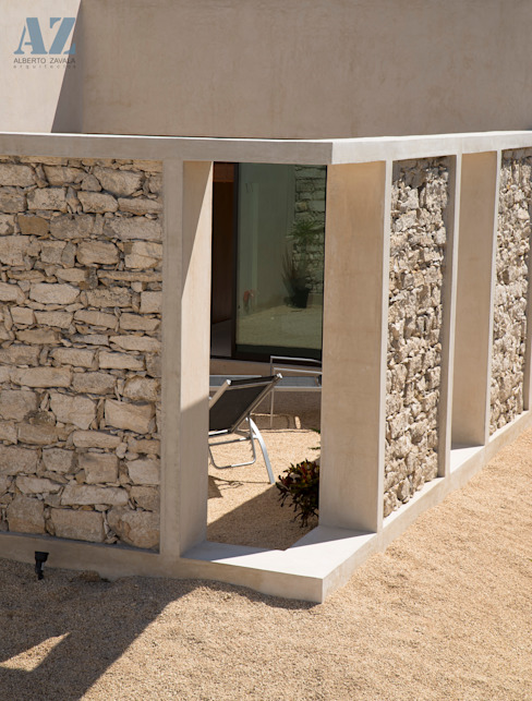 CASA MANGULICA: Casas de estilo  por Alberto Zavala Arquitectos, Moderno