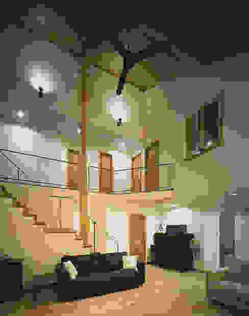 福島太夫の家(Y邸新築工事): 有限会社 起廣プラン 一級建築士事務所が手掛けたリビングです。,北欧