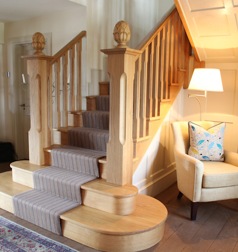 Stairs Classic style corridor, hallway and stairs by JBA Architecture Classic