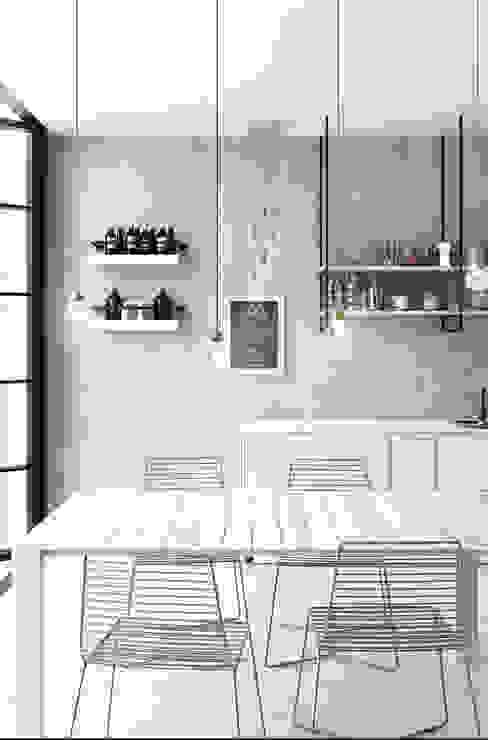 Cocinas de estilo moderno de GHINELLI ARCHITETTURA Moderno Sintético Marrón