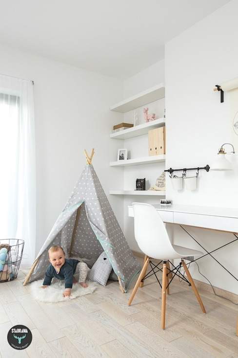 Nursery/kid's room by stabrawa.pl, Scandinavian