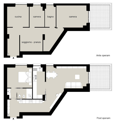 casa in via di Valle Corteno di studio di architettura Comes Del Gallo Moderno