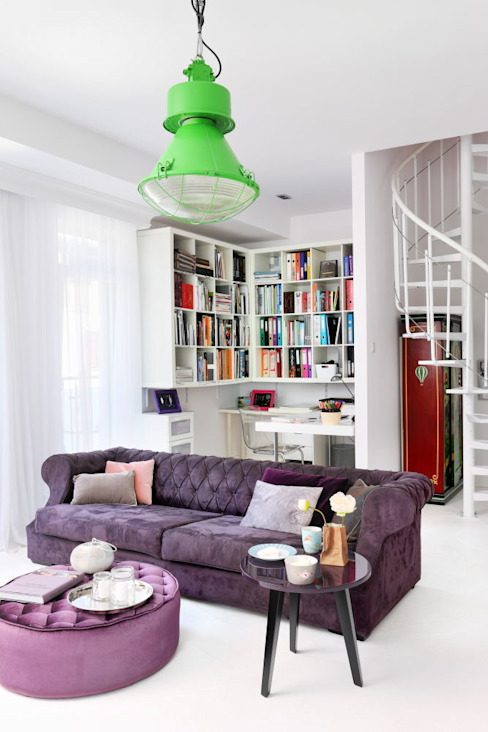 Salas modernas de livinghome wnętrza Katarzyna Sybilska Moderno