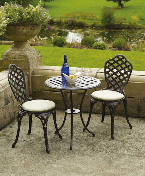 Bramblecrest Bergamo Bistro Set (Black) Daniel Department Store Garden Furniture