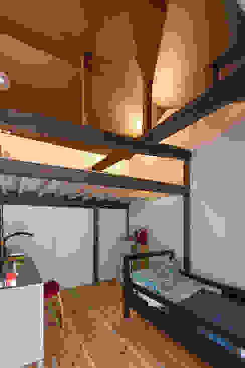 築100年の古民家再生 子供室のロフト 和風デザインの 子供部屋 の 一級建築士事務所 感共ラボの森 和風