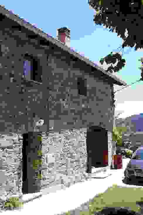 Fachada Estado definitivo Casas rústicas de Lidera domÉstica Rústico