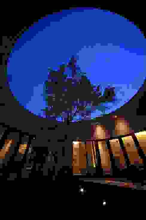 中庭(夜景): MA設計室が手掛けた庭です。,モダン