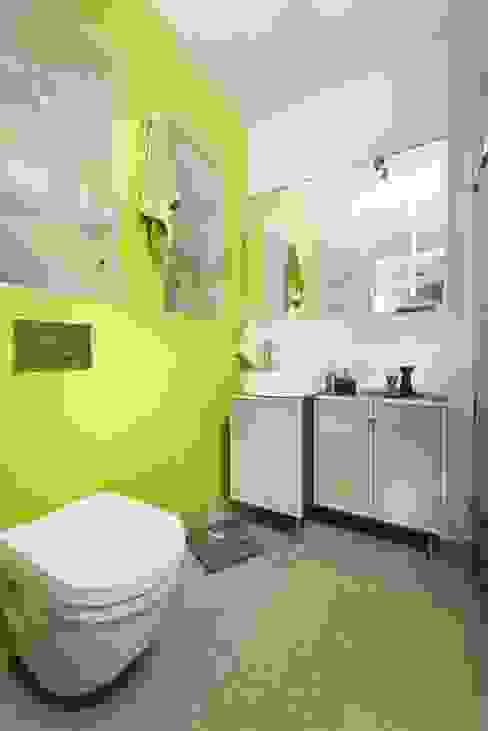 przytulne 40 m2 Nowoczesna łazienka od ZIZI STUDIO Magdalena Latos Nowoczesny