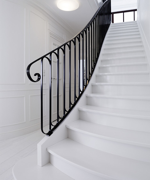 Pasillos, vestíbulos y escaleras clásicas de Trąbczyński Clásico