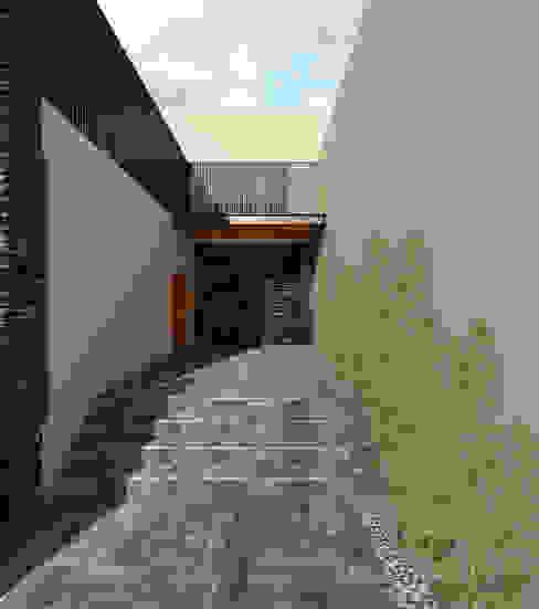 Casa EF: Pasillos y recibidores de estilo  por Taller Habitat Arquitectos, Moderno