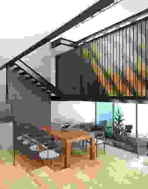 Dining room by Taller Habitat Arquitectos,