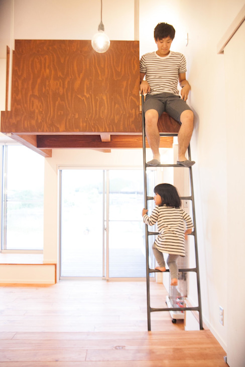 Ot-House オリジナルデザインの 多目的室 の ADS一級建築士事務所 オリジナル