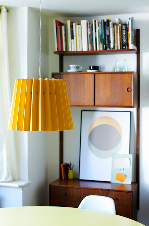 Warm Yellow & China White Twin Tone Lampshade Lane Dressing roomLighting