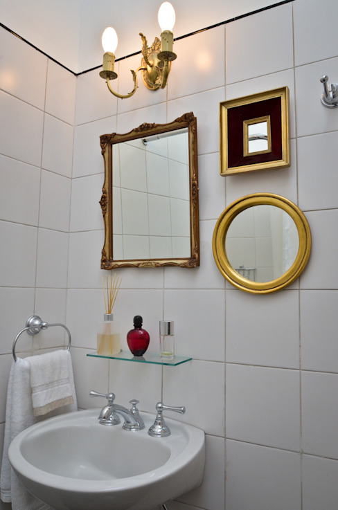 現代浴室設計點子、靈感&圖片 根據 GUTMAN+LEHRER ARQUITECTAS 現代風
