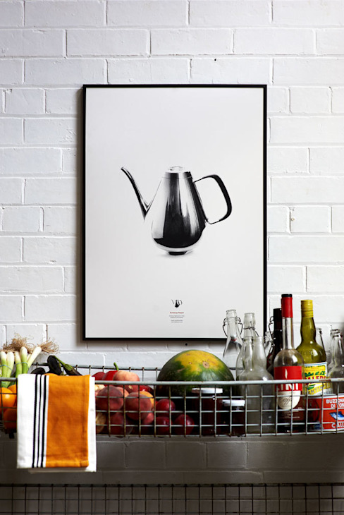 David Mellor - Embassy Teapot (1963) Hand Pulled Screen Print de Lane Moderno