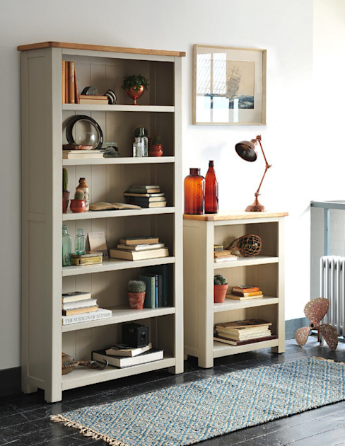 Lundy Stone Grey Large Bookcase The Cotswold Company Living roomShelves