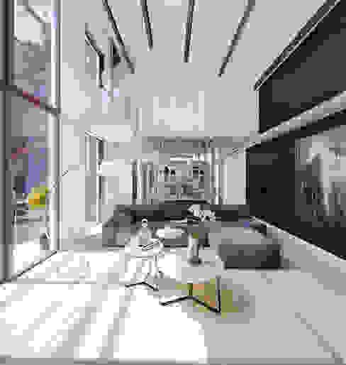 Labahou Une ancienne papeterie reconvertie en loft Salon moderne par Planet Studio Moderne