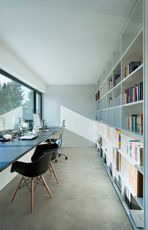 Modern Study Room and Home Office by gramming rosenmüller architekten Modern