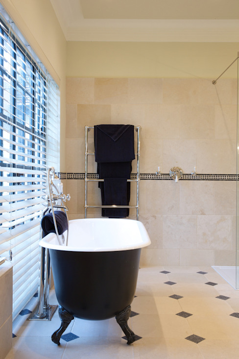 Limestone floor and wall tiles Artisans of Devizes Classic style bathrooms
