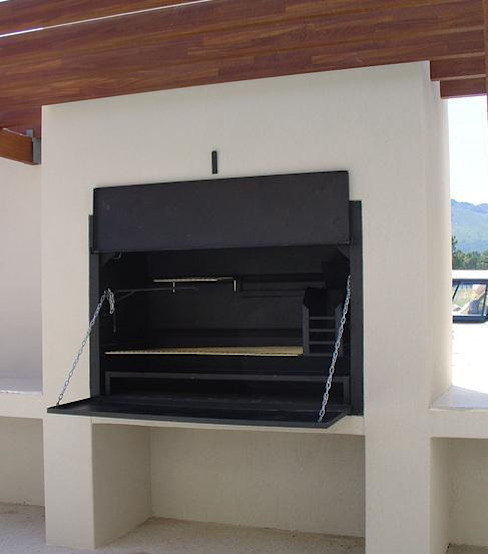1200 Super Deluxe Built-in Braai The Braai Man Garden Fire pits & barbecues