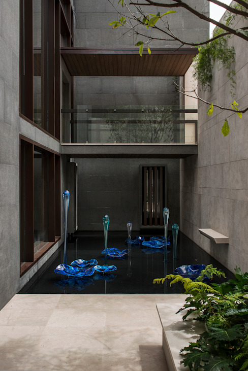 Residencia CD de México 02: Terrazas de estilo  por Studio Orfeo Quagliata, Moderno