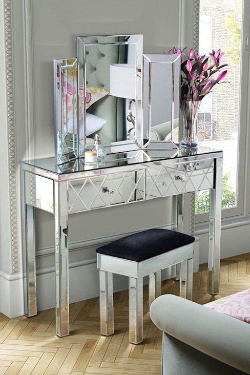 Knightsbridge Mirrored Dressing Table with 4 legs de My Furniture Clásico