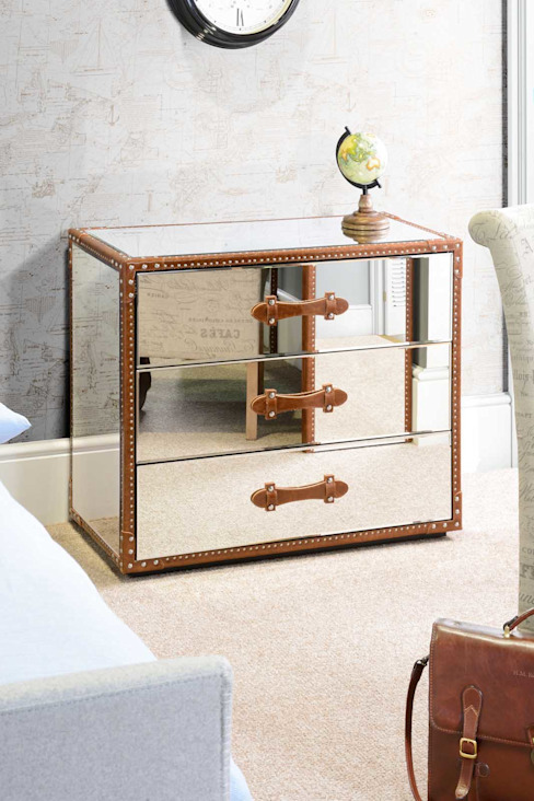 Cape Verde Mirrored Chest with 3 Drawers homify Kolonyal