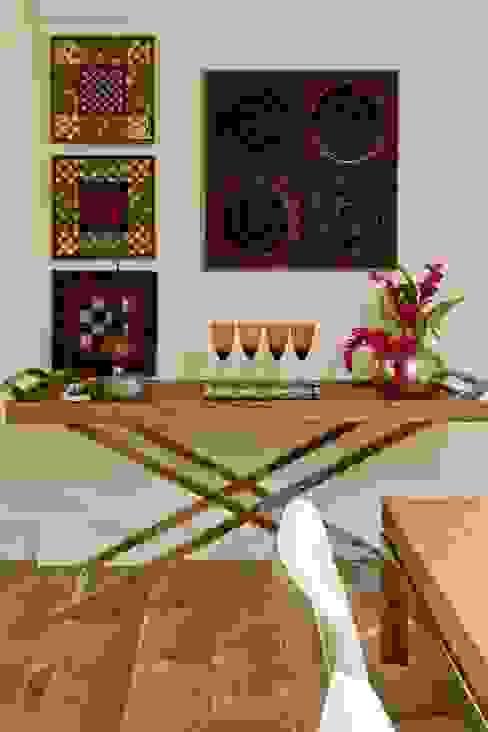 Salones rústicos de estilo rústico de CR Arquitetura Rústico