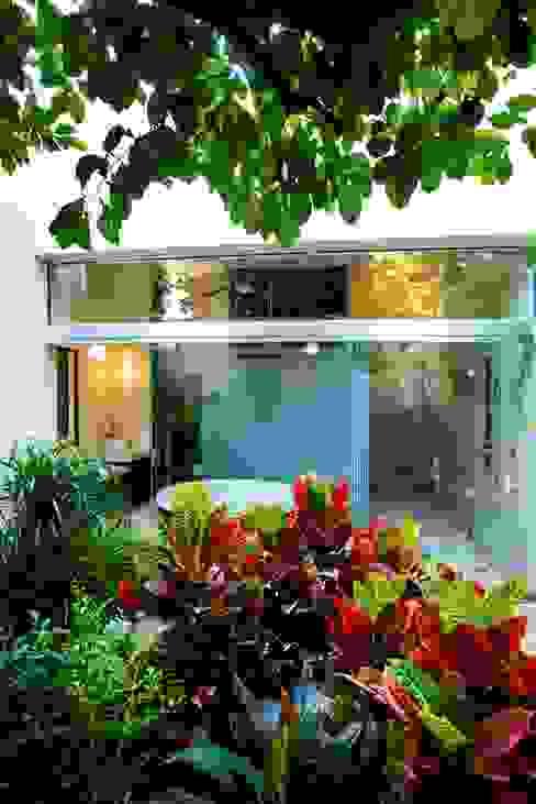 Baño - Patio Amarillo Taller Estilo Arquitectura Baños de estilo moderno