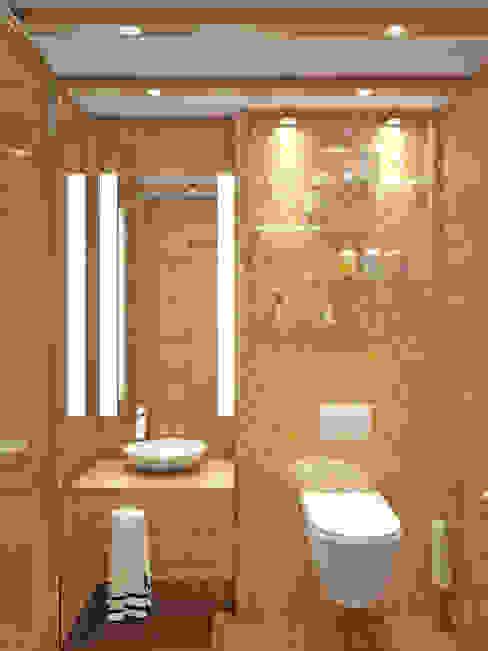Baños de estilo mediterráneo de Симуков Святослав частный дизайнер интерьера Mediterráneo