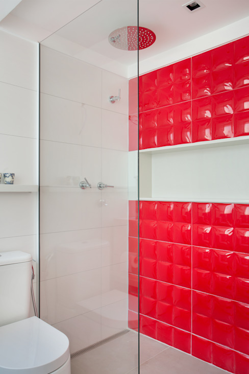 Ana Adriano Design de Interiores Modern Bathroom Red
