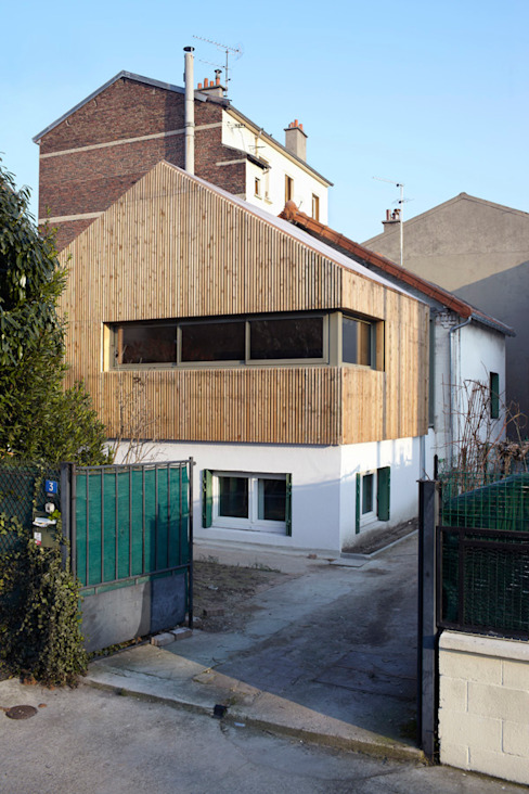J'habite à Drancy, extension d'une maison Maisons modernes par Atelier d'Architectures Fabien Gantois Moderne