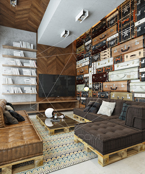 homify Industrial style living room