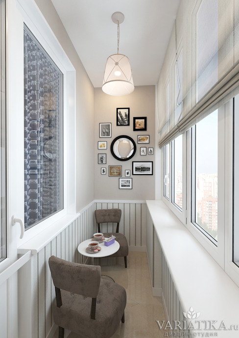 Eklektyczny balkon, taras i weranda od variatika Eklektyczny