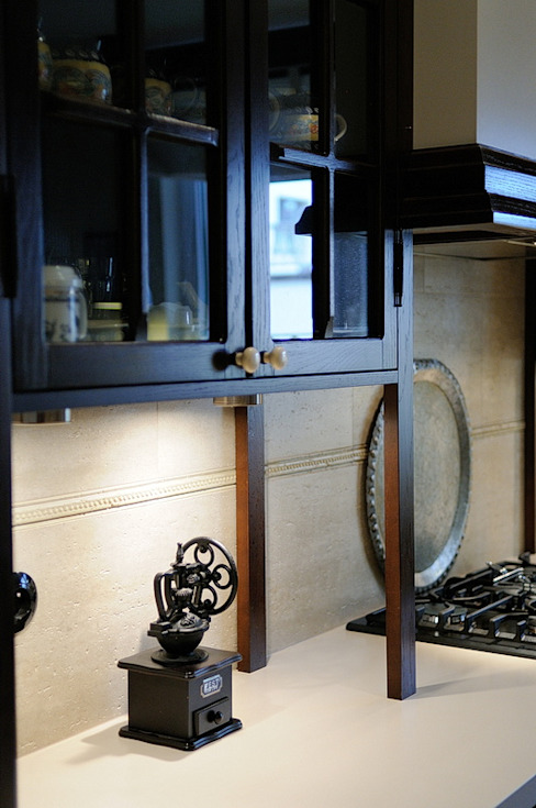 Cocinas de estilo  por ARTEMA  PRACOWANIA ARCHITEKTURY  WNĘTRZ , Rústico Madera Acabado en madera