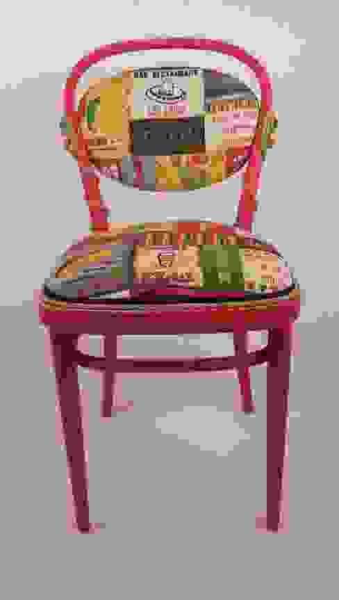 de Motley Chairs Ecléctico Madera Acabado en madera