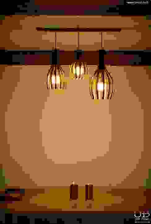 월넛 행잉 펜던트 조명 _ Curve Pendant Lighting : 유닛디자인의 현대 ,모던