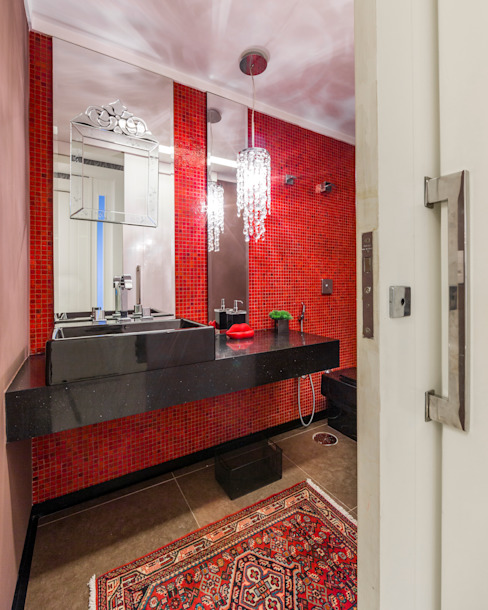 Lavabo Enzo Sobocinski Arquitetura & Interiores Banheiros clássicos