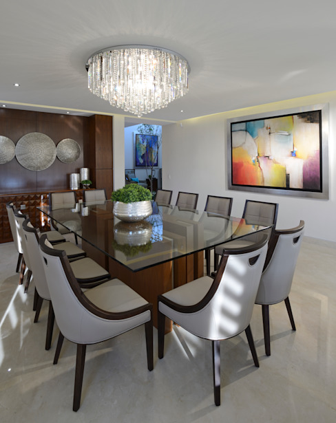 Dining room by VICTORIA PLASENCIA INTERIORISMO, Modern Wood Wood effect