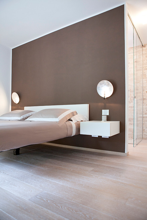 Minimalist bedroom by Semplicemente Legno Minimalist Wood Wood effect