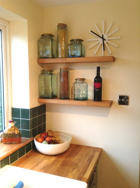 shelfbar floating shelves - natural oak shelfbar HouseholdStorage
