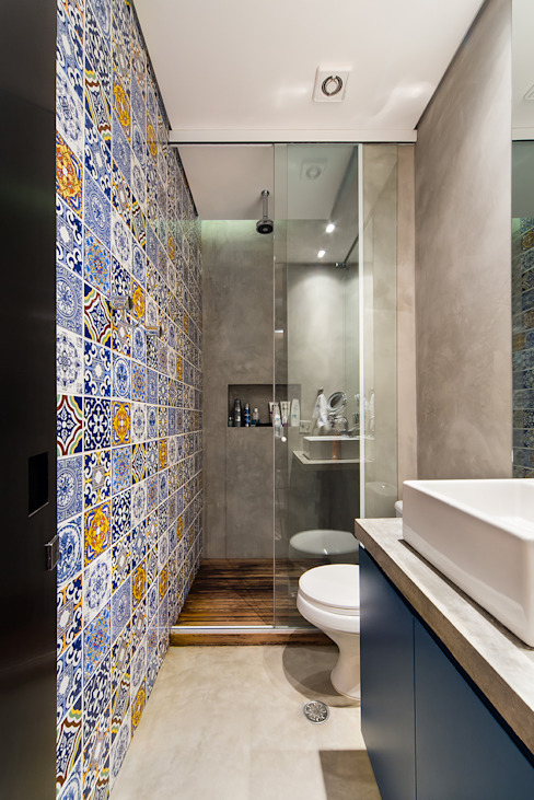 Casa100 Arquitetura Modern style bathrooms
